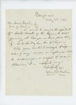 1861-05-25 Samuel W. Hoskins writes Governor Washburn asking for military appointment by Samuel W. Hoskins