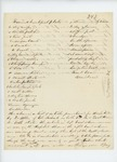 Undated (circa August 1861) list of supplies purchased by Dr. Allen for the hospital