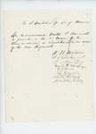 Undated - Petition recommending Walter P. Hammatt for position as lieutenant