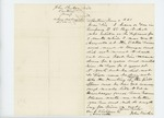 1861-06-07  Senator John Bridges writes to Governor Washburn requesting discharge for his son