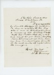 1861-06-10 S.R. Devereux writes to Governor Washburn about discharge for Senator Bridges' son by S. R. Devereux