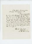 1861-06-10  S.R. Devereux writes to Governor Washburn about discharge for Senator Bridges' son
