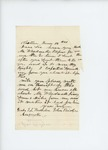 1861-06-12  Senator John Bridges writes to Adjutant General Hodsdon inquiring about Wardwell's papers