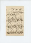 1861-06-14 Colonel Jameson writes to Governor Washburn to complain about poor quality of knapsacks by Charles Davis Jameson