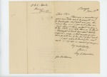 1861-06-17  Dr. Augustus C. Hamlin writes to Governor Washburn requesting permission to recruit 20 men for the 2nd Maine Regiment