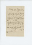 1861-07-15 Samuel York inquires about the 2nd Regiment's term of service by Samuel N. York