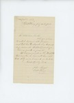 1861-07-25 John Sawyer writes to Governor Washburn requesting that his ailing son be sent home by John Sawyer