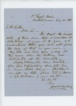 1861-07-31  Samuel W. Hoskins writes to Mr. Eaton to request a copy of the regiment's descriptive roll