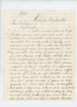 1861-08-15  A.B. Farwell writes to Governor Washburn regarding open rebellion of the 2nd Regiment troops and urges more attention be paid to their wants