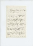 1861-08-15 A.D. Harlow writes to Adjutant General Hodsdon explaining the poor state of the regiment by A. D. Harlow