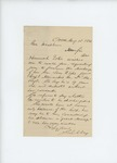 1861-08-15 S. Libbey writes to Governor Washburn on behalf of Hannah Estes requesting the discharge of Levi F. Estes by S. Libbey