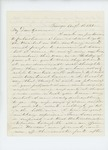 1861-08-18 S.B Morrison writes to Governor Washburn to offer his services by S. B. Morrison