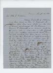 1861-08-19  Mr. McGillis writes to Adjutant General Hodsdon on behalf of Henry Barrett
