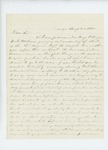1861-08-22 S.B. Morrison offers his services as assistant to Dr. McRuer by S. B. Morrison