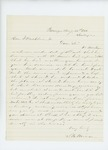 1861-08-25  S.B. Morrison writes to Governor Washburn