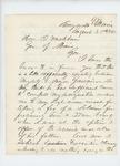 1861-08-28  1st Lieutenant George W. Brown writes to Governor Washburn regarding Major Gardiner's accusations