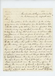 1861-08-30 Lieutenant Colonel Charles W. Roberts replies to John Hodgkins regarding discharge of his son by Charles W. Roberts