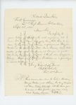 1861-09-01 Charles Roberts responds to inquiry about William L. Stevens by Charles W. Roberts