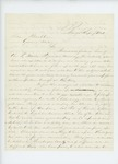 1861-09-07 A.M. Roberts urges Governor Washburn to finish filling up the regiment by A. M. Roberts