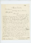 1861-09-19 Colonel Charles W. Roberts informs Governor Washburn of Samuel W. Hoskins' promotion by Charles W. Roberts