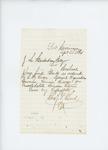 1861-09-23  Quartermaster Charles V. Lord sends blanks for regimental reports