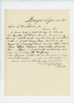 1861-09-23 D. White solicits permission to recruit men from Bangor by D. White