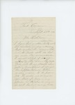 1861-09-29 Mr. Hichborn forwards a request for transfer from Levi Mudgett by N. C. Hichborn