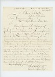 1861-09-30  Colonel Charles Roberts requests appointment of Stephen D. Millett as Lieutenant