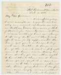 1861-10-03  Dr. Morrison reports on the medical status of the regiment