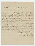 1861-10-03  Captain J.S. Sampson requests a copy of Company D descriptive roll