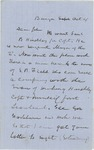 1861-10-04 W.H McGillis requests Samuel B. Hinckley be promoted to captain by W. H. McGillis