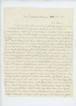 1861-10-04  James H. Bacon of Company A solicits a promotion