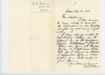 1861-10-10 R.D. Palmer solicits appointment as a surgeon though not a graduate by R. D. Palmer