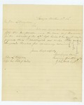1861-10-10  Recruiting officer Lieutenant James Dean requests knapsacks, haversacks, and medical examination blanks