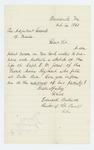 1861-10-14  Reverend Edward Ballard requests information on Captain E.W. Jones