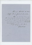 1861-10-14 S.B. Field acknowledges request to report for duty by S. B. Field