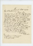 1861-10-16  Daniel White requests election of officers among new recruits