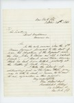 1861-10-20 Brockholst Cutting requests confirmation of the death of Reverend John Mines by Brockholst Cutting