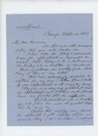 1861-10-22 William H. Mills recommends Palmer and Conley for promotion and asks for position for his son