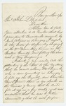 1861-11-01  Joseph Taney[?] writes to Adjutant General Hodsdon about dissolution of the Grattan Guards