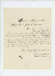 1861-11-03  Samuel B. Field writes to Adjutant General Hodsdon regarding recruits