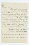 1861-11-07  1st Lieutenant Adams requests permission to raise a company of artillerists