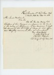1861-11-10  Colonel Charles Roberts accepts Reverend B.F. Tefft as regiment chaplain