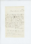 1861-11-10  C.N. Crocker requests certification of his enlistment as a waggoner