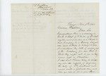1861-11-13  Thomas Trickey recommends his son for 2nd Lieutenant in Company A
