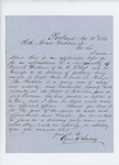 1861-11-15   Cyrus Ladd requests promotion of Cyrus A. Washburn to Lieutenant and transfer to artillery battery
