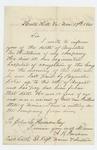 1861-11-17  Captain Augustus B. Farnham writes to Adjutant General Hodsdon informing him of the death of Augustus Hutchins