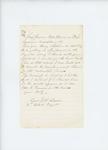 1861-11-18  Lieutenant J.W. Adams requests position in regular Army instead of volunteers