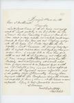 1861-11-20  Daniel White requests Thomas Porter for 2nd Lieutenant