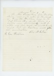 1861-12-07  Elias B. Collins recommends promotion and transfer of Cyrus A. Washburn